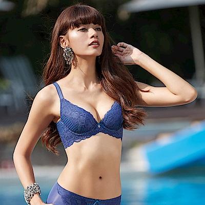 曼黛瑪璉 V極線內衣  B-E罩杯(沉靜藍)