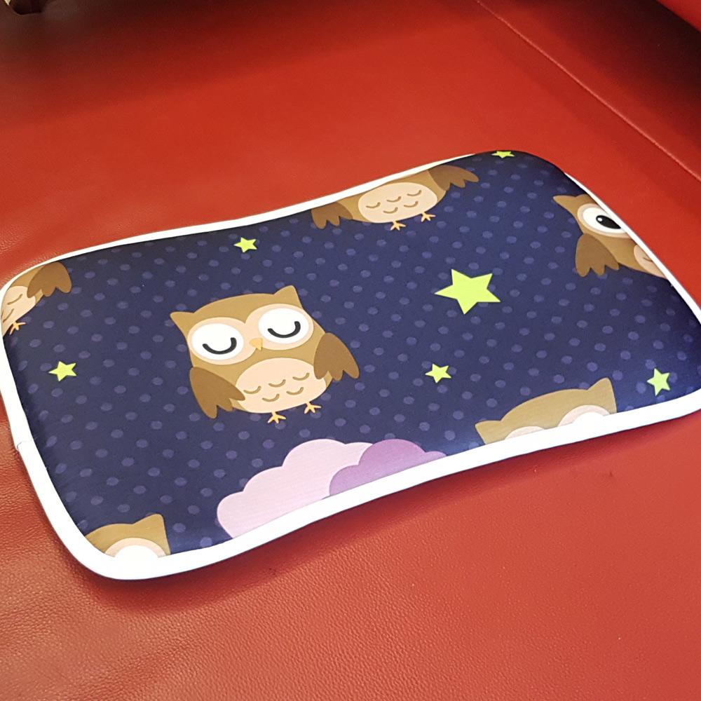 凱蕾絲帝-3D挑高透氣《可水洗》循環散熱繽紛嬰兒枕/趴睡枕-貓頭鷹