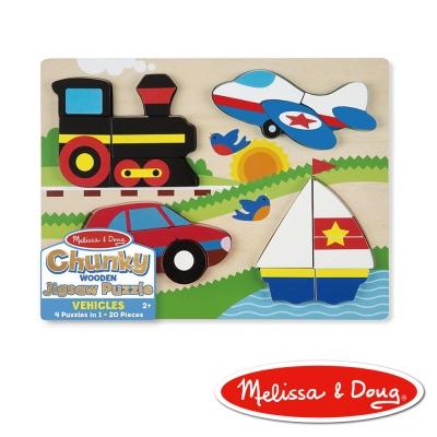 美國瑪莉莎 Melissa & Doug 厚塊拼圖 - 交通工具