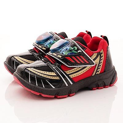動物戰隊-LED電燈運動鞋款-EI4512紅黑(中小童段)