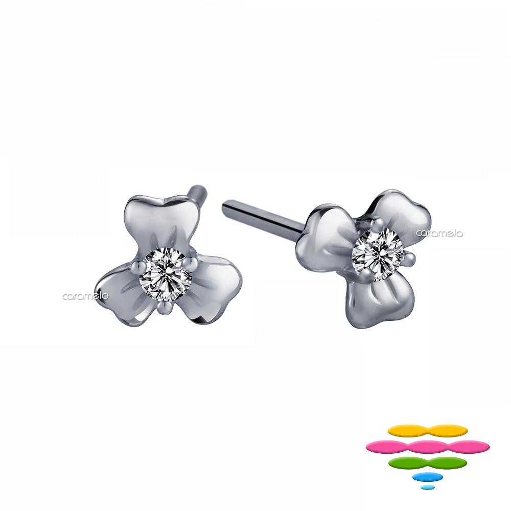 彩糖鑽工坊 14K鑽石耳環 花瓣耳環 花語系列