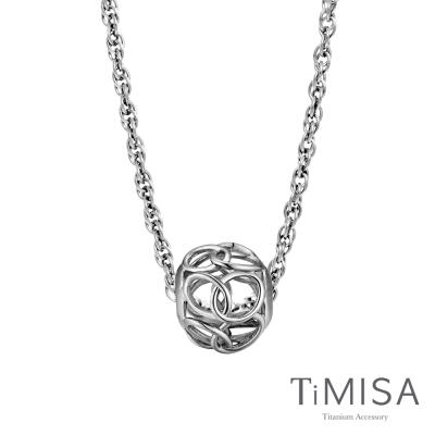 TiMISA 圈圈 純鈦串飾項鍊(SB)