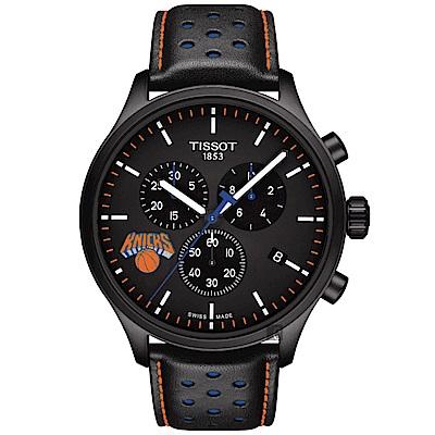 TISSOT天梭 CHRONO XL NBA 尼克隊特別版計時錶-45mm