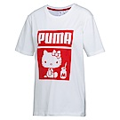 PUMA-女性流行系列Hello Kitty短袖T恤-白色-歐規
