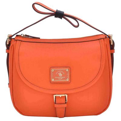 SANTA BARBARA POLO - 幸福微糖系列肩背/斜背兩用馬鞍包-香橙橘