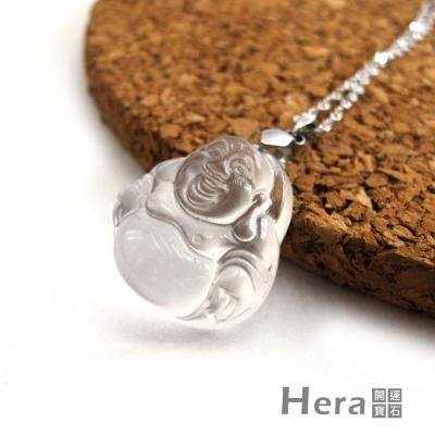 Hera頂級冰種水沬玉彌勒佛項鍊