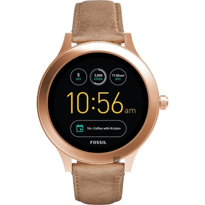 Fossil Q Venture系列觸控智能手錶-黑x卡其/42mm