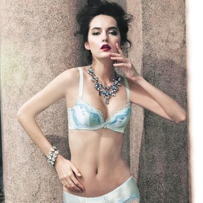 曼黛瑪璉  Marie One 刺繡蕾絲內衣  B-E罩杯(陶瓷藍)