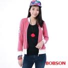 BOBSON  女款刺繡花紗粉色外套