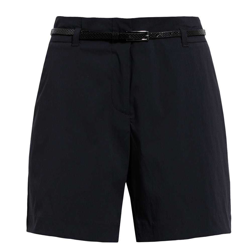 【hilltop山頂鳥】女款抗UV吸濕快乾彈性短褲S09F53-黑