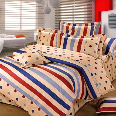 艾莉絲-貝倫 簡約生活 100%純棉 雙人特大鋪棉涼被床包四件組