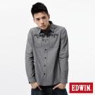 EDWIN 襯衫 標語牛津襯衫-男-黑色