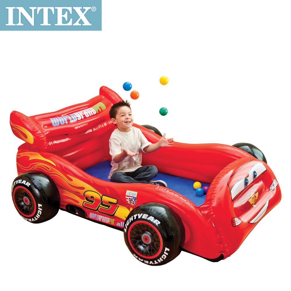 INTEX 迪士尼卡通CARS汽車造型球池/遊戲池(附10顆彩球)(48668)