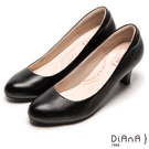 DIANA 漫步雲端輕盈美人C款--素雅真羊皮輕音制鞋-黑