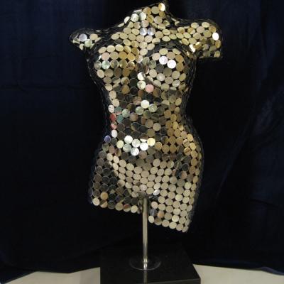 *創意時尚歐風*風姿綽約不鏽鋼金屬雕塑