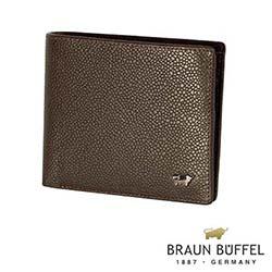 BRAUN BUFFEL - CHUCHO丘喬系列5卡透明窗皮夾 - 可可色