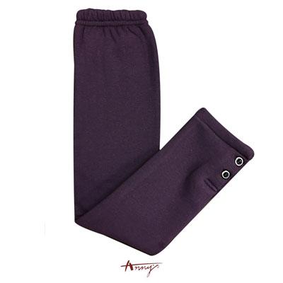 Annys素面鈕扣舒適保暖厚內搭襪褲*5660紫