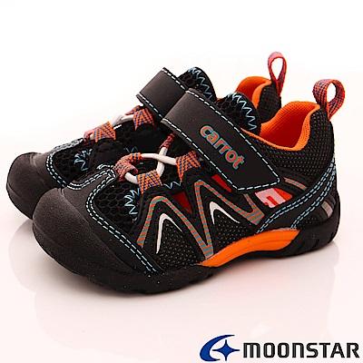 日本月星頂級童鞋 機能護趾速乾款 TW 2036 藍(小童段)
