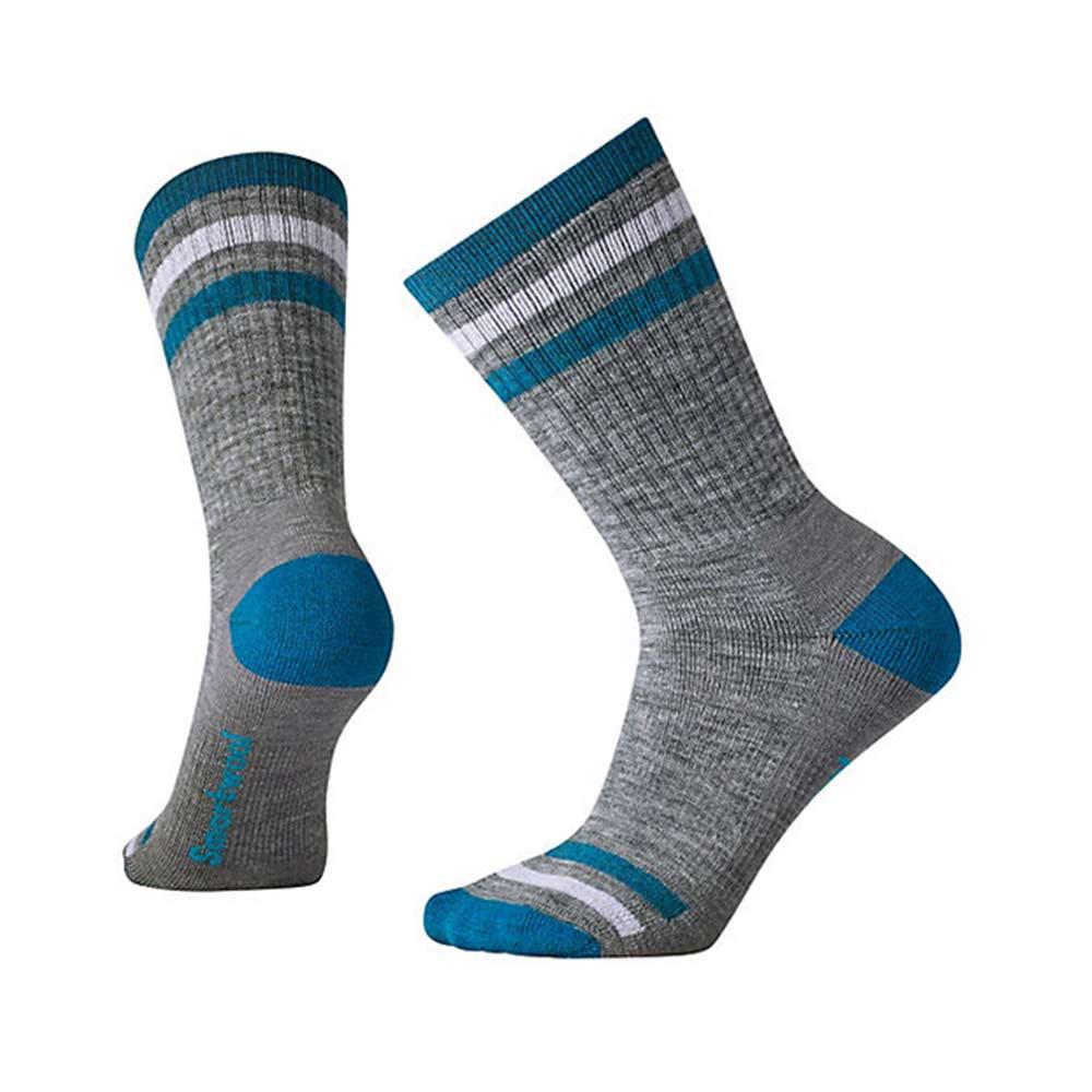 SmartWool 羊毛襪女健行條紋中量級減震中長襪 淺灰
