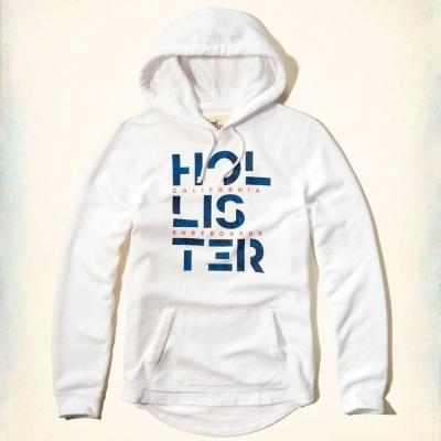 Hollister HCO 長袖 帽T 白色 0287