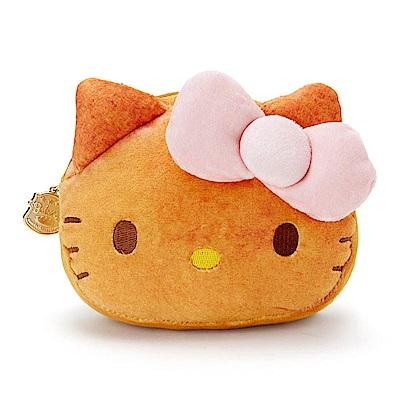 Sanrio 三麗鷗明星趣味麵包店系列大臉造型絨毛化妝包(KITTY)