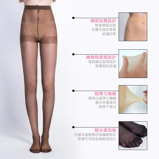 BeautyFocus(6雙組)超薄透絲褲襪