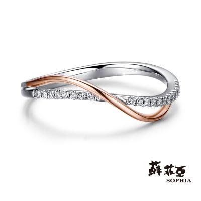 蘇菲亞SOPHIA - 雙色交織 0 . 07 克拉鑽石戒指