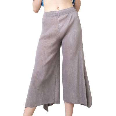 灰色百搭壓摺長褲裙-玩美衣櫃