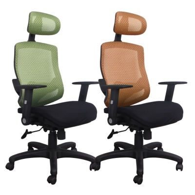 LOGIS邏爵 多彩漢納斯護腰全網椅/辦公椅/電腦椅 2色