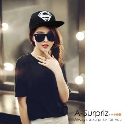 A-Surpriz S超人素面夜光棒球帽(黑)