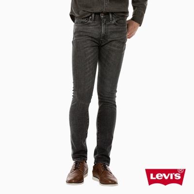 牛仔褲 男裝 519 低腰超緊身窄管 彈性布料 黑灰丹寧 - Levis