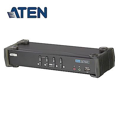 ATEN 4埠 USB DVI KVMP 多電腦切換器 (CS1764A)