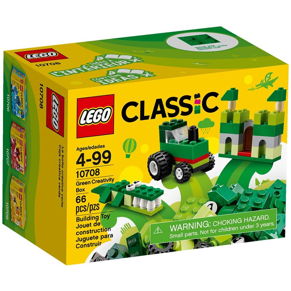 任選 LEGO樂高 經典系列 10708 綠色創意盒 (4Y+)