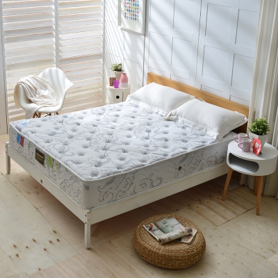 Ally愛麗 雙人加大6尺 乳膠+德國SILVERPLUS銀離子涼感抗菌護邊獨立筒 麵包床