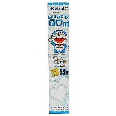 Doraemon 威化捲心酥餅乾(巧克力60gx2+香草牛奶60gx2)