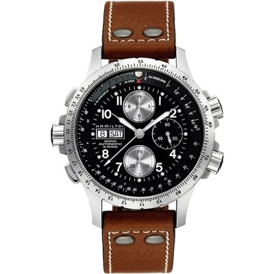 Hamilton ID4:星際重生 御風者系列機械腕錶-黑x卡其/44mm