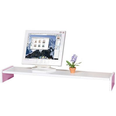 限時下殺-Homelike-伸縮式桌上型置物架-粉紅色