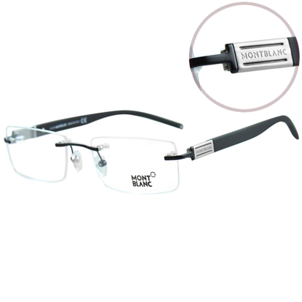 萬寶龍MONTBLANC-時尚光學眼鏡(黑色/銀色)MB382