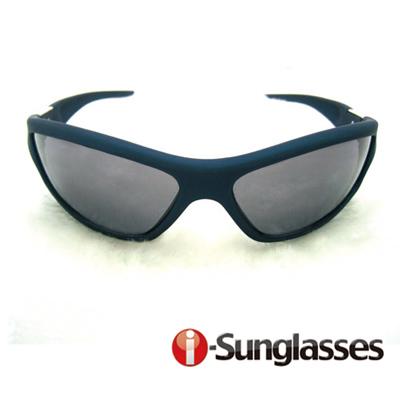 【i-SunGlasses】運動型抗UV400太陽眼鏡-藍色