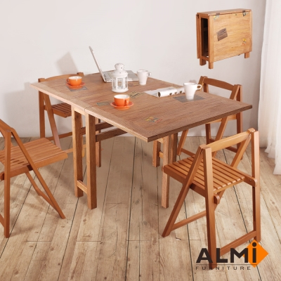 ALMI_DINING TABLE 2 FLAPS 蝴蝶餐桌W155*D90*H77CM