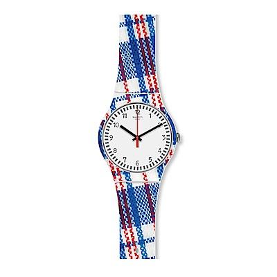 Swatch 情迷地中海  TARTANOTTO 蘇格蘭格紋手錶