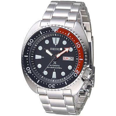 SEIKO PROSPEX潛水夫200M自動機械錶(SRP789K1)-黑*紅/41mm