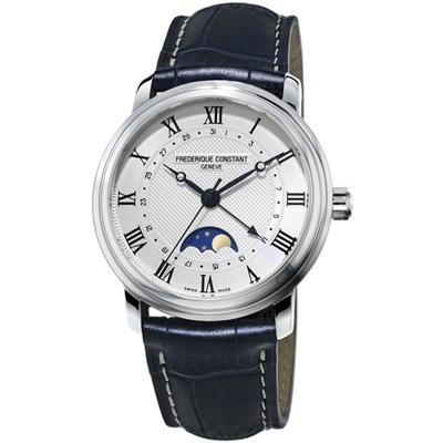康斯登 CONSTANT  CLASSICS百年經典系列月相腕錶-40mm