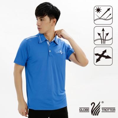 【遊遍天下】男款抗UV吸濕排汗機能POLO衫GS10019寶藍