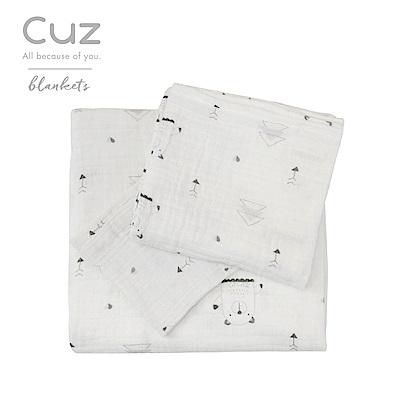 Cuz-熊的伸展操(紗布巾)30cm-2入