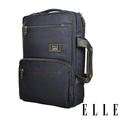 ELLE城市都會休旅系列大容量機能收納13吋筆電手提/後背/公事包-深藍83910