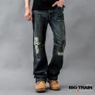 【BIG TRAIN】日式水紋繡花垮褲