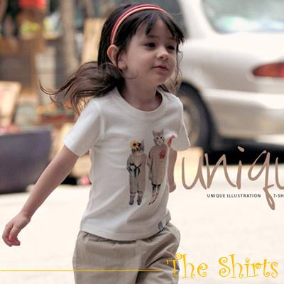 【The Shirts】英式復古小貓短袖T恤 (共二色)