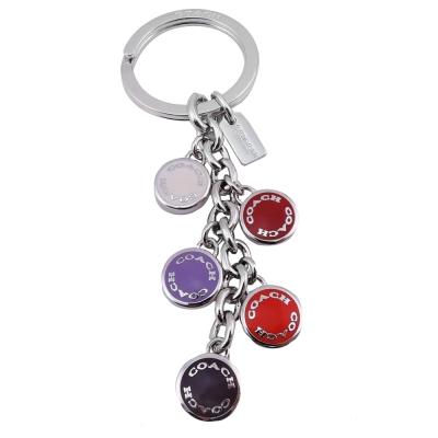 COACH 彩色圓釦鑰匙圈