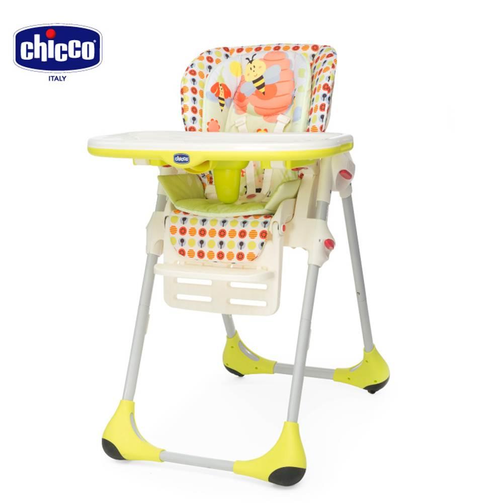 chicco-Polly兩段式高腳餐椅-蜜蜂花園/黃